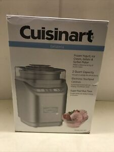 Cuisinart ICE-70 Electronic Ice Cream Maker, Brushed Chrome, Brand New