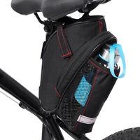 Sac Sacoche Étui de Selle Siège noir + rouge pour Vélo VTT Bicyclette Cyclisme