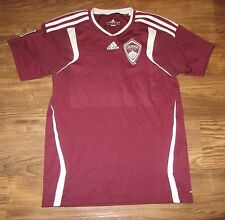 MLS Colorado Rapids Soccer Jersey, Red, Adidas, Patch, Boys Size L, EUC
