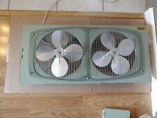 "NOS RARE Marvin Twin 10"" Portable Window Fan Mobile Home 4 SPEED Original Box"