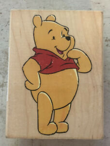 """Rubber Stamp Used ~ Disney Winnie the Pooh """"Friendly Pooh"""""""