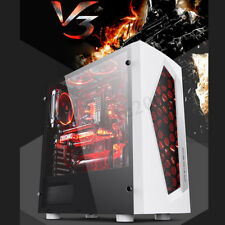V3 MATX Mid Tower Computer Gaming PC Case 8 Fan Ports USB 3.0 For Motherboard !