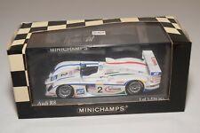 WW 1:43 MINICHAMPS AUDI R8 LE MANS 2004 CHAMPION RACING TEAM MIB