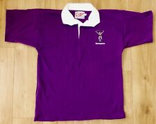 HARLEQUINS RUGBY-Players Style-NEW-Rugby Shirt S/S-Embroidered-LARGE-PURPLE