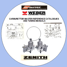 CARBURETTOR MASTER REF CATALOGUE AND TUNING MANUALS WEBER SU ZENITH