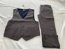 Nwt Gymboree Boys Herringbone Vest & Pants Holiday Formal Easter Size 6 Small