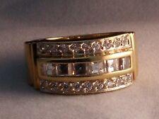 Band Herren Ring Schliffmix Prinzess Diamant Brillant 2.00 Carat 585 Gold