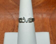 DISNEY STERLING SILVER ''LOVE'' BAND RING SIZE 6