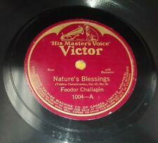 FEDOR CHALIAPIN Nature's Blessings/Siberian Prisoners Song CANADA 78 Victor 1004