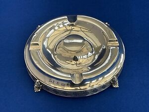 A Large Antique Solid Silver Cigar Ashtray - Birmingham 1910 -