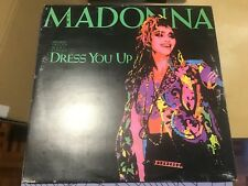 "MADONNA - DRESS YOU UP 12"" MAXI GERMANY SIRE 85 - PROMO STICKER - SYNTH POP"