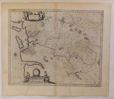 Le Pays de Saintonge, gravure sur cuivre éditée par Willem Blaeu, 1635