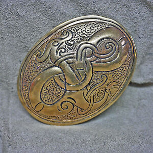 gr.Wikinger Ovalfibel Drachenfibel Drache Bronze Schürzenfibel Fibel Schildkröt