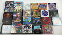 21 Windows PC Mac Game Lot Box Diablo 2 3 Guild Wars Tron Madden Oregon Trail