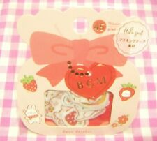 BGM / Strawberry Rabbit Sweets Masking Tape Paper Flake Sticker Japan 45 pieces