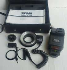 Sunpak Auto DX-8R Ring Light Flash Kit With Case & Accessories