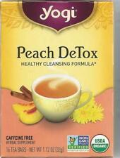 Yogi Peach DeTox 16 Tea Bags  1 12 oz  32 g