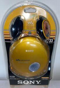 VINTAGE 2002 SONY D-E350 CD WALKMAN RADIUM GOLD W/ HEADPHONES **NEW & SEALED**