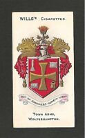 WOLVERHAMPTON TOWN Coat of Arms & Motto The home of WULFRUNIANS 1905 printcard