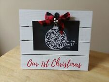 Our First Christmas Photo Frame 4x6