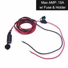 Car Auto Cigarette Lighter 12V Plug Socket Power Extension Cable Heavy Duty 15A