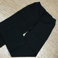 A-495 Denim & Co. Regular Ponte Smooth Waist Pull-On Pants BLACK size S