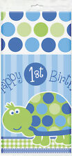 First (1st) Birthday (Boy) TURTLE TABLECOVER - 120X180cm (Party/Decoration)