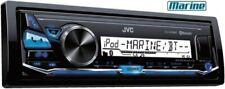 JVC KD-X33MBT 1-DIN Radio Marine Boot Bluetooth USB AUX Blau 1/2 DIN Tiefe