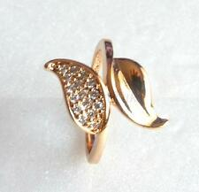 Gelbgold beschichtete Modeschmuck-Ringe mit Zirkon-Hauptstein für Damen