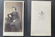 Verdot, Chateauroux, Auguste small, ingérieur, circa 1865 vintage cdv albumen pr