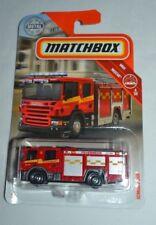 2018 MATCHBOX MBX RESCUE SCANIA P 360 RED FIRETRUCK 56/125
