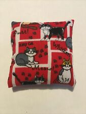 Handmade square mini pillow cat toy with catnip gift pet Cotton
