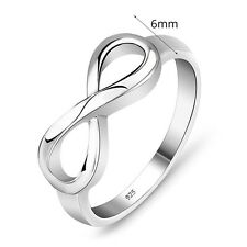 925 Sterling Silver Infinity Ring Endless Love Symbol Rings For Fashion Women