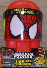 NEW MARVEL ~ Bonka Zonks SPIDER MAN HEADQUARTERS Case + 2 Figures & Stunt Cards