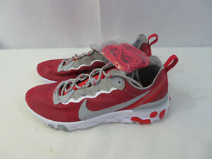 Nike React Element 55 Ohio State Buckeyes Mens Shoes CK4798-600 Red/White 8.5