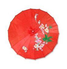 JapanBargain Japanese Chinese Asian Umbrella Parasol Red Free Shipping