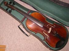 "Nice old German violin ""Franz Hell Elmshorn"" violon w. a beautiful 1 part back"