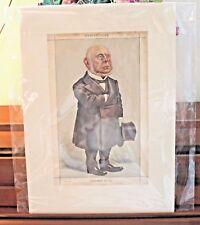 Original 1872 VANITY FAIR Cartoon Caricature of Politician Charles Francis Adams