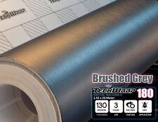 Brushed Metal GREY Aluminium 750x1520 mm Vinyl Carbon Wrap Film Car Sticker