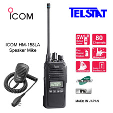 ICOM IC-41Pro (Replaces IC-41W) 5W UHF CB radio + Genuine ICOM HM-158LA Sp Mike