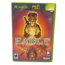 Microsoft Xbox Fable I - Original Green Box Complete Video Game CIB EUC