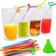New listing Reusable Drink Pouches With Straws For Cold & Hot Drinks - Choose Your Quantity