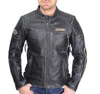 Harley Davidson Stil Screamin Eagle Distressed Look schwarze Lederjacke Replik