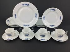 Royal Copenhagen Juliane Marie Blue 16-Piece Dinnerware Set for FOUR (4) Lot A