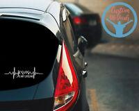 Jesus Is My Lifeline Car Decal Sticker Religious Faith Heartbeat Christian