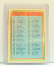 1985 1986 85 86 OPC O PEE CHEE HOCKEY CARD BLANK CHECKLIST 3 396 NOT CHECKED