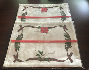 (8) Holiday Nouveau Lenox Placemats - 2 Packages of 4 - New in Package