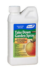 Monterey Take Down Garden Spray 1 Pint For Pests Vegetables Fruit Trees Plants