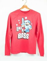 Minecraft Boys Like a Boss Diamond Long Sleeve T-Shirt Official Mojang Product