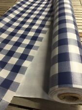 Nappe PVC carreaux vichy bleu largeur 140 cm toile ciree au metre - vinyle